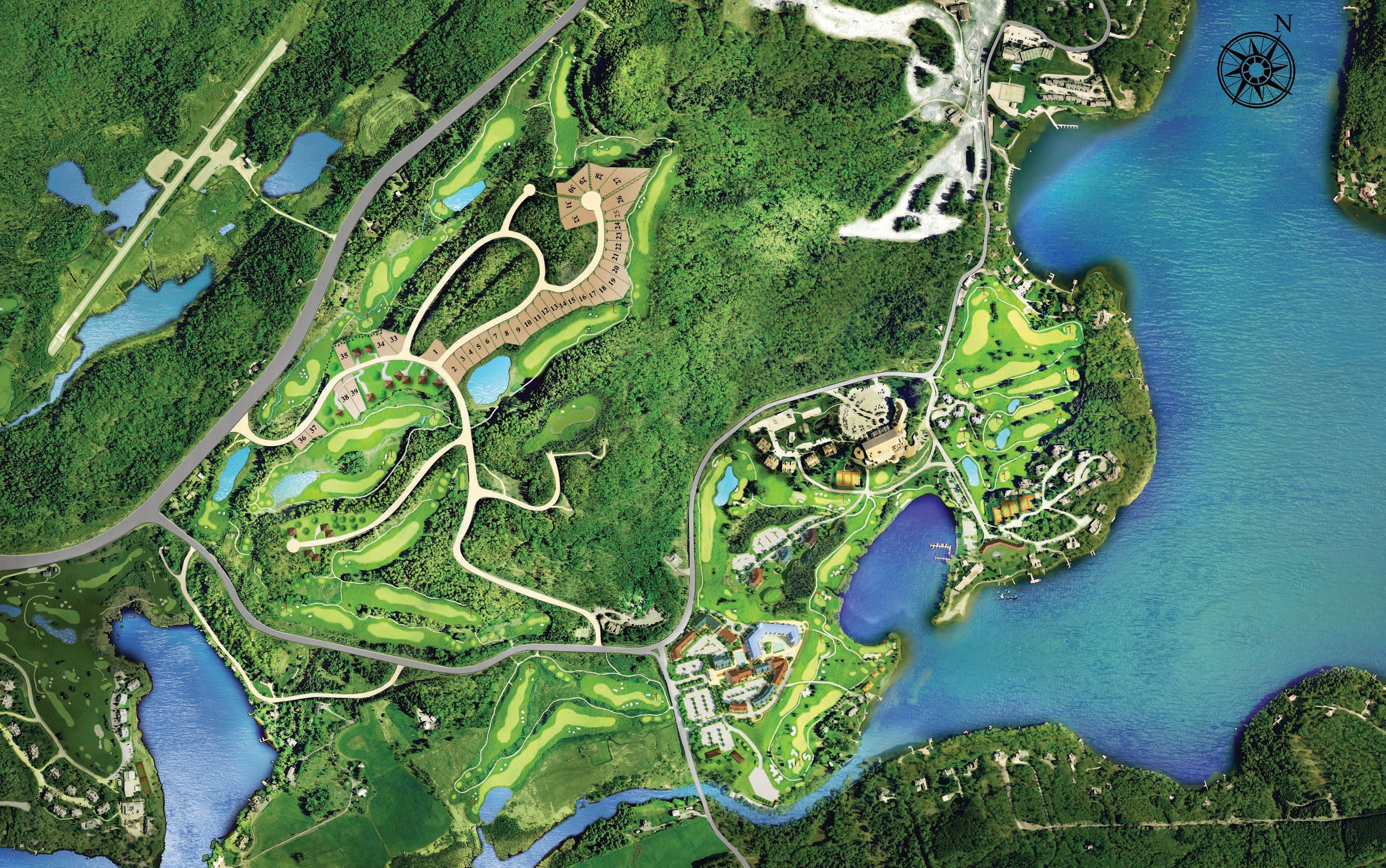 Deerhurst Resort Map Terrain Map View   Lakeside Lodge at Deerhurst Resort Deerhurst Resort Map